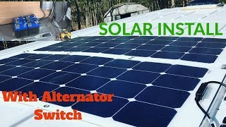 How to install simple Solar System with Alternator Switch, Sprinter Van Conversion