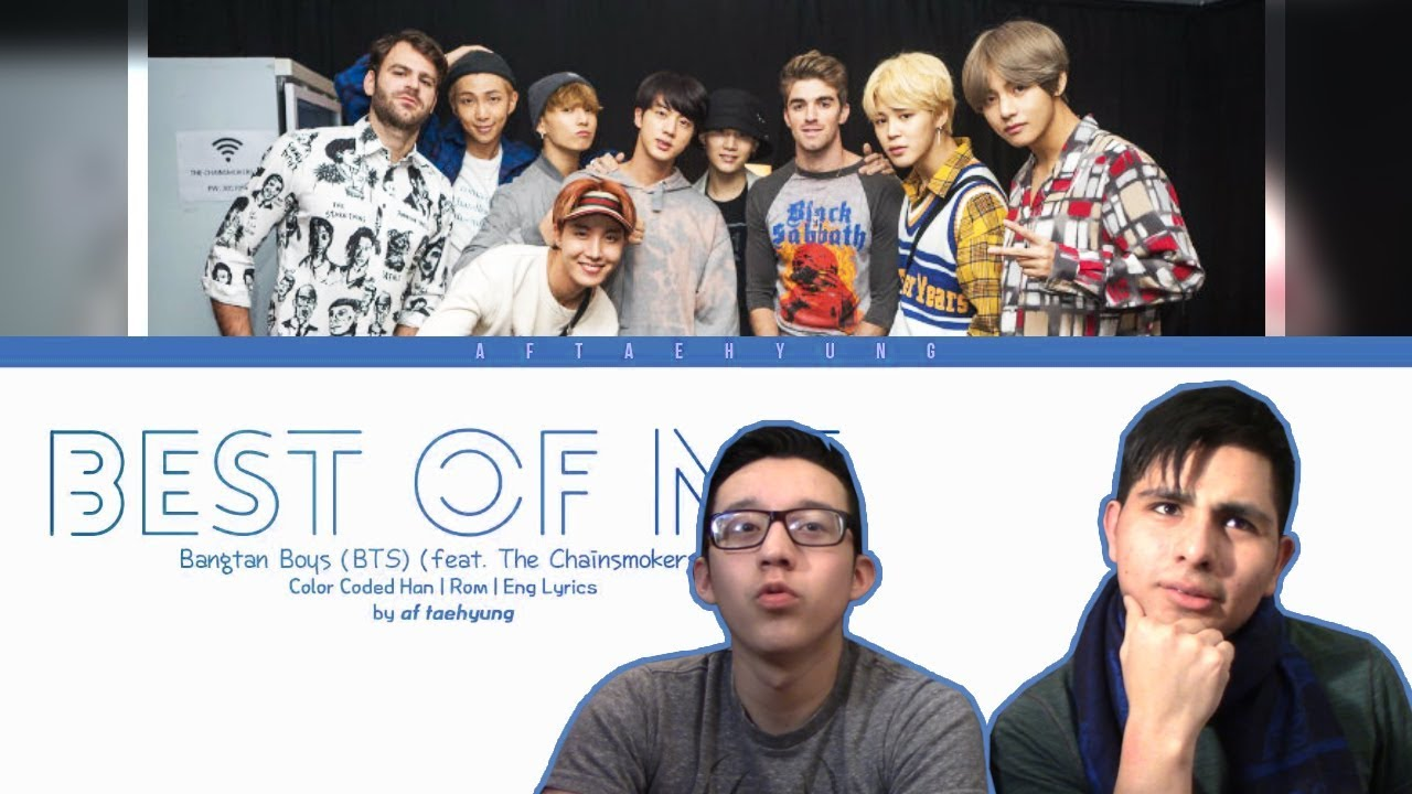 Guys React To Bts Best Of Me Prod By The Chainsmokers