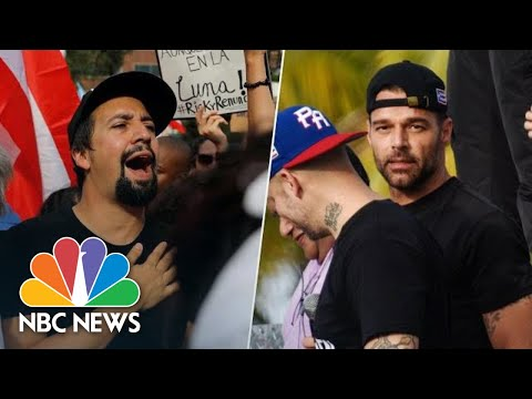 Ricky Martin, Lin-Manuel Miranda Demand Puerto Rico Gov. Resign | NBC News