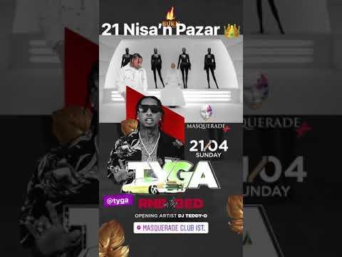 Tyga 21 Nisa'n Pazar sadece masquerade club istanbul sahnesinde    Rezv & info 05331354911