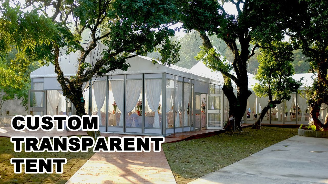 Custom Transparent Tent from Liri Tent as Wedding Tent for Ceremony