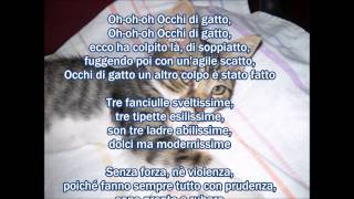 Occhi di gatto, sigla italiana, karaoke da midi file