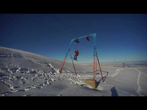 ski chair lift malfunction cross back dining chairlift malfunctions in gudauri || viralhog | doovi