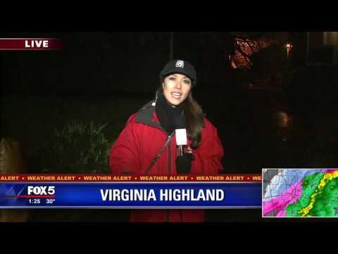 Tree Falls On Virginia Highland Home