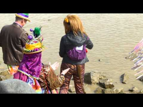 King Joey Leblanc ashes put in the river on mardi gras day 2015. 02-17-2015