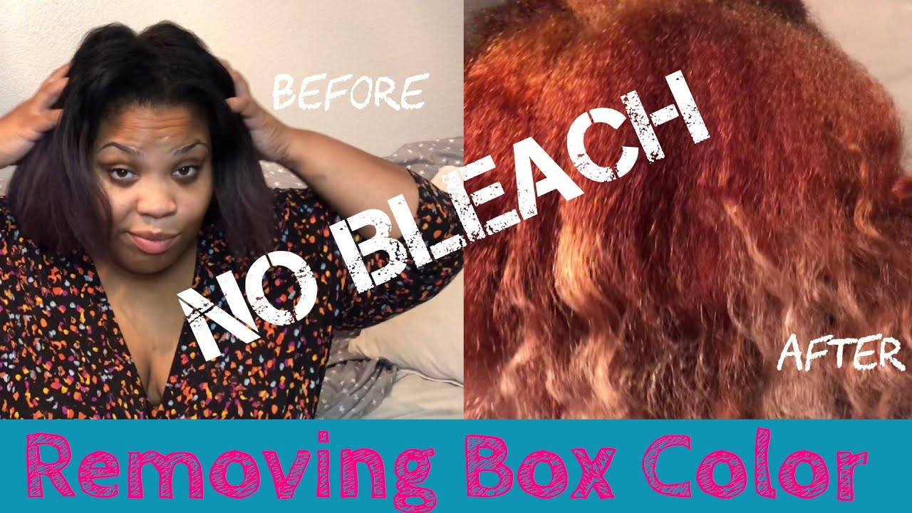 Removing Box Color Without Bleach Sally Beauty Supply Youtube