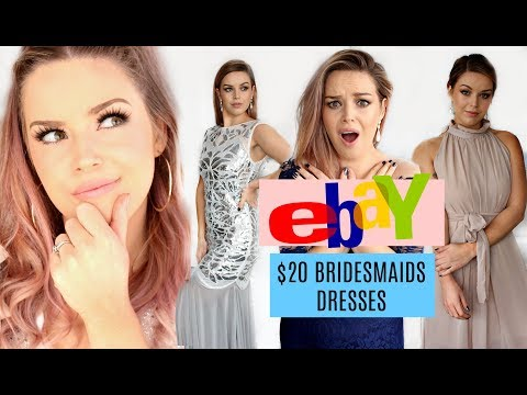 Trying On Ebay Bridesmaids Dresses