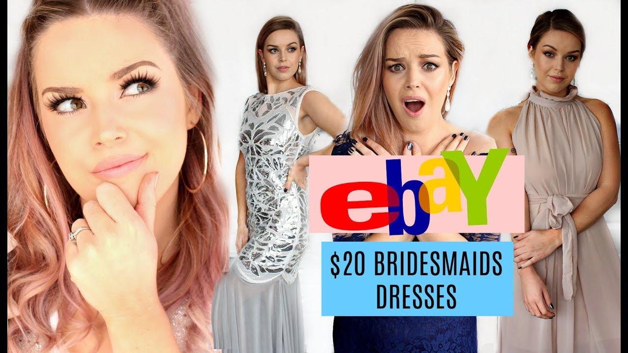 Trying on 20 ebay bridesmaids dresses fail or success trying on 20 ebay bridesmaids dresses fail or success makeup by annalee ombrellifo Images