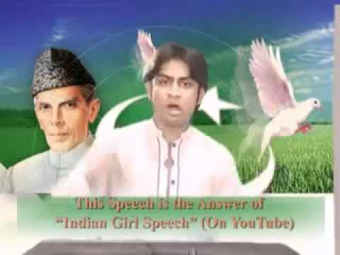 Pakistani Boy Answer to Indian Girl Speech: A Great Speech By Hafiz Muhammad Usman