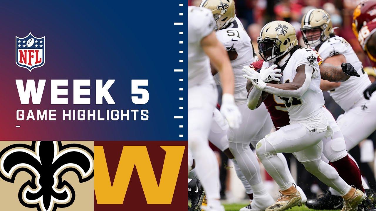 Download Saints vs. Washington Football Team Week 5 Highlights   NFL 2021