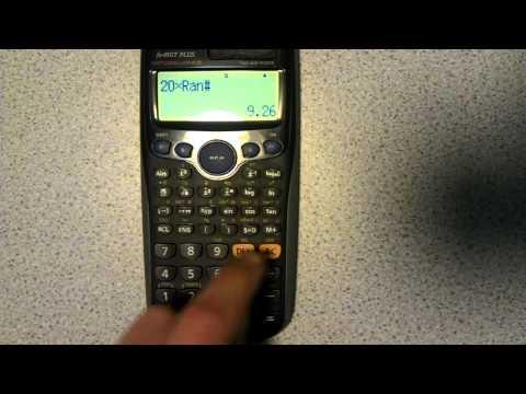 Generating Random Numbers On Calculator