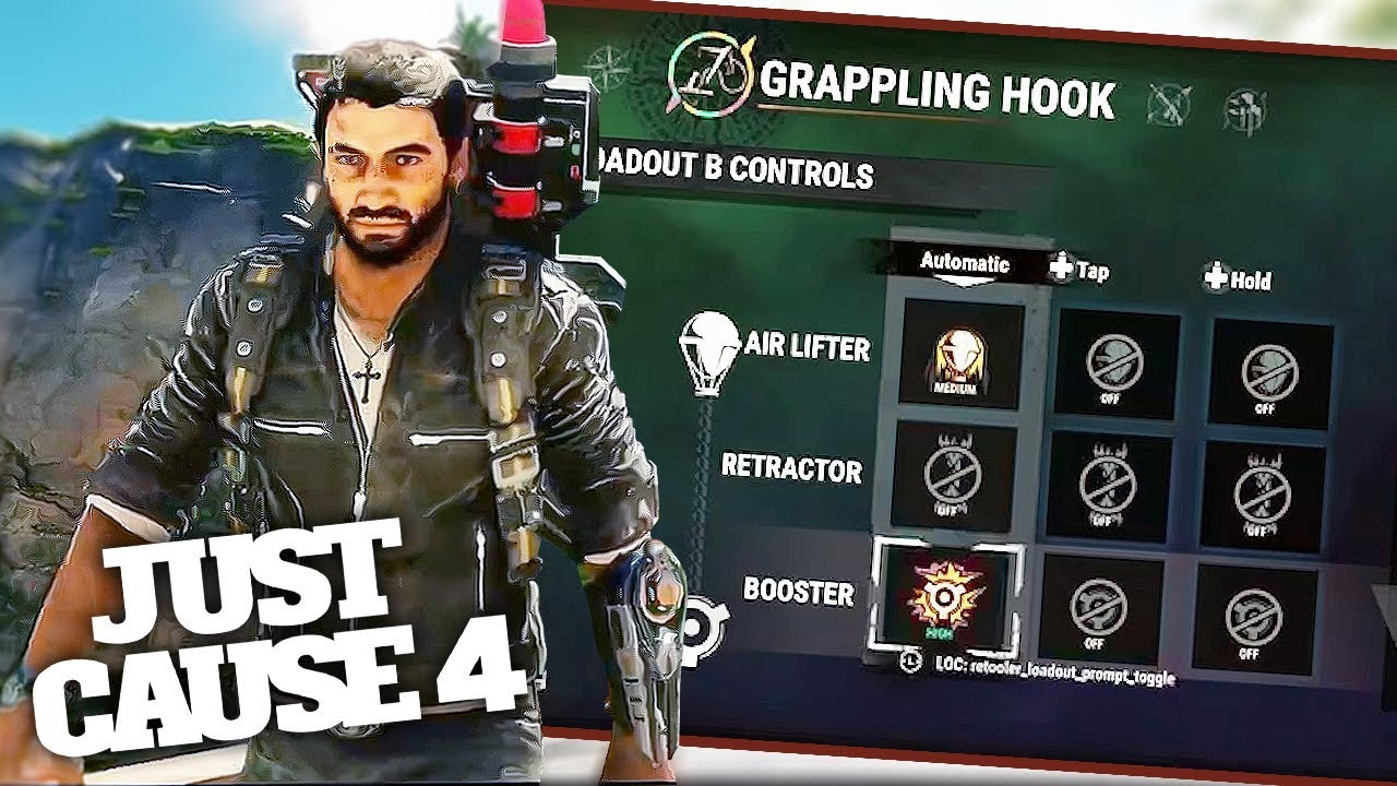 Image result for grappling hook customization just cause 4