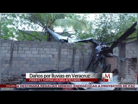 Daños por lluvias en Veracruz