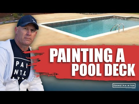 How To Paint A Pool Deck Diy Tips Painting Concrete Pool