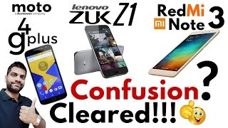 Moto G4 Plus Vs Zuk Z1 Vs Redmi Note 3 | Champion?