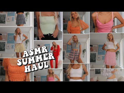 ASMR Summer Try On Haul! Whispers & Fabric Sounds (Aritzia & Urban Outfitters)
