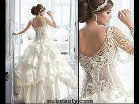 508f3fa9750c1 اجمل مجموعة فساتين زفاف لعام 2015 - YouTube