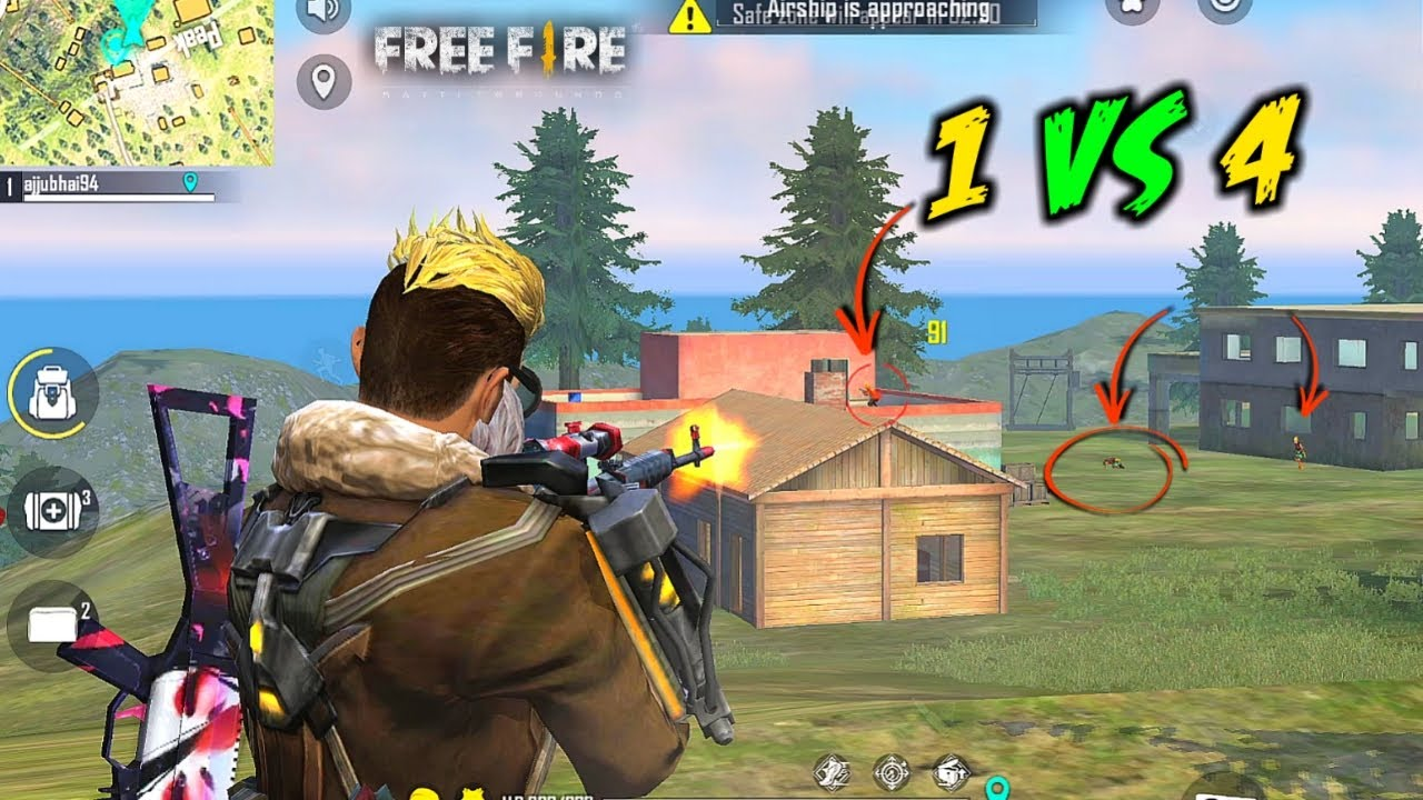 Found Solo vs Squad OverPower Best Moment Must Watch - Garena Free Fire