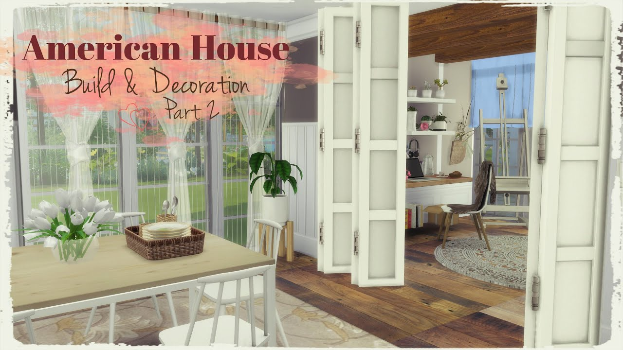 Sims 4 american style house build decoration part 2 for American style home decoration