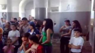 Ахалцихе, Грузия, Джавахк, Молебен в церкви Сурб Ншан