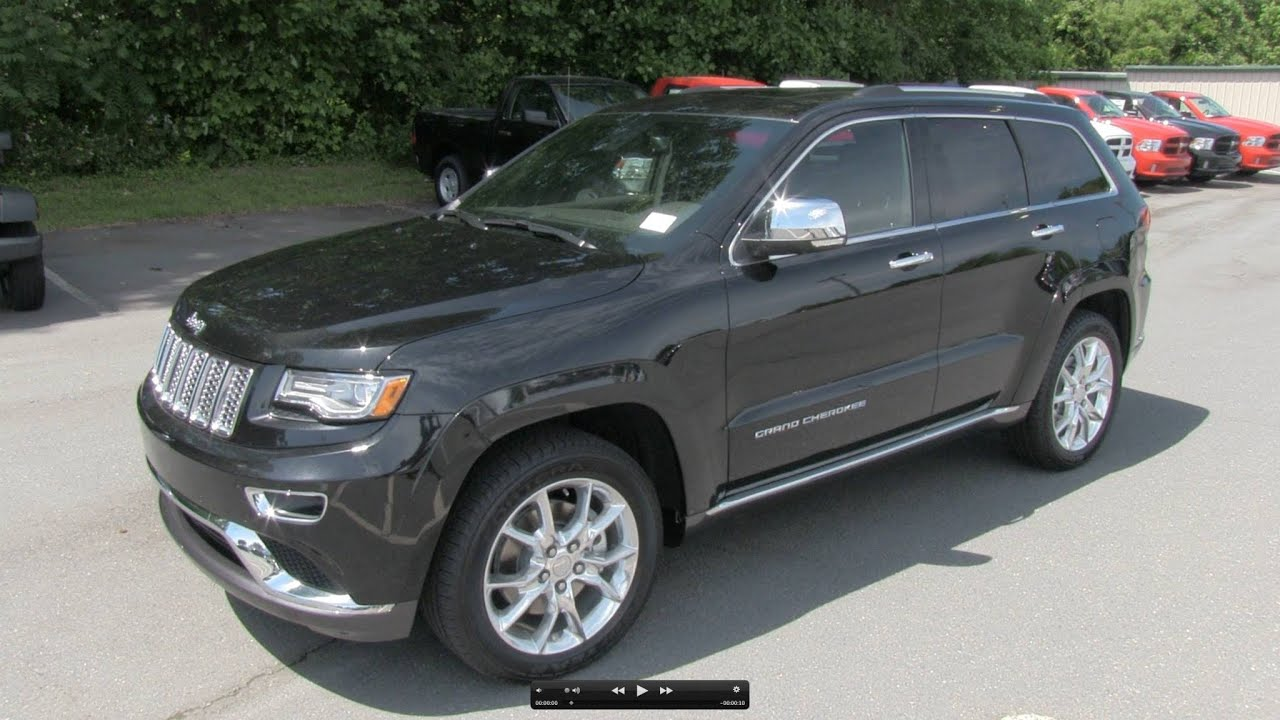 2014 jeep grand cherokee summit v8 start up  exhaust  and