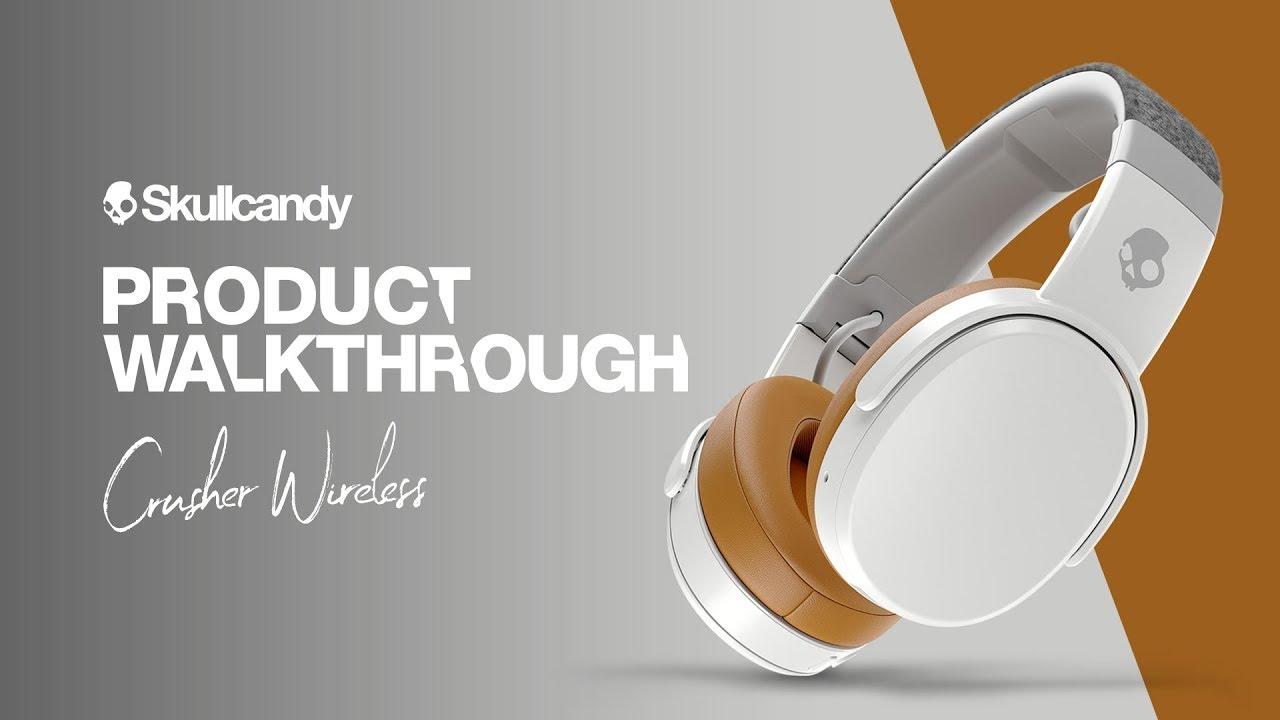 skullcandy crusher wireless headphones product walkthrough [ 1280 x 720 Pixel ]