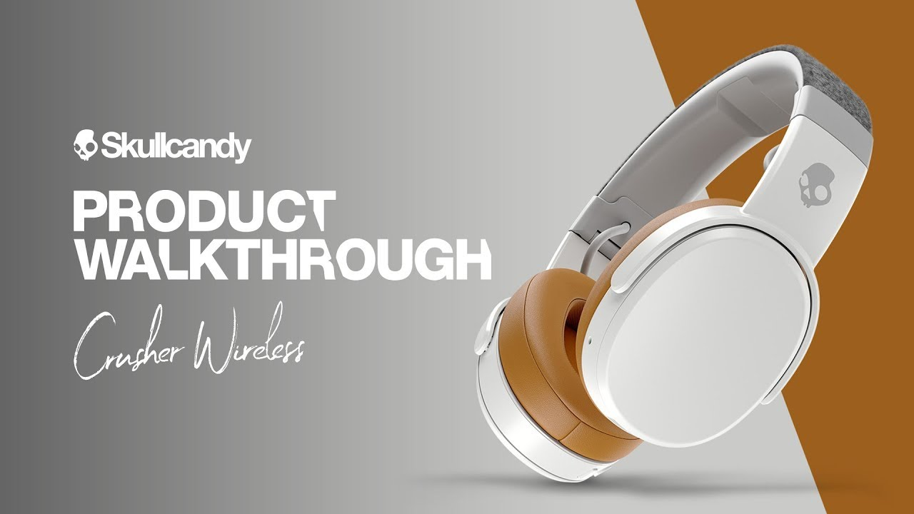 medium resolution of skullcandy crusher wireless headphones product walkthrough