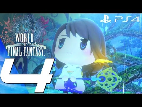 World of Final Fantasy (PS4) - Gameplay Walkthrough Part 4 - Yuna Boss Fight & Icicle Ridge