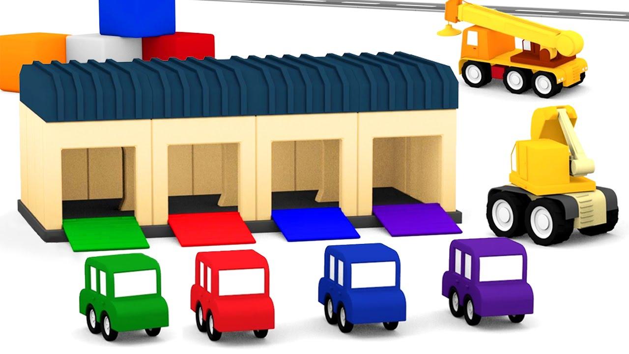 Cartoni animati per bambini macchinine colorate e il for Disegni di addizione garage