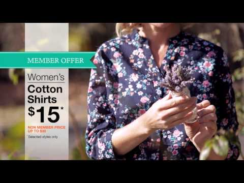 TV – Women's Cotton Shirts $15 for Members
