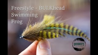 Fly Tying Beginner Predator Flies   Freestyle BULKhead Swimming Frog