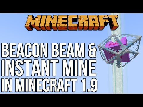Minecraft 1.9: Instant Mine & Beacon Beam [Minecraft Myth Busting 94]