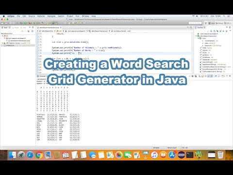 Creating A Word Search Grid Generator In Java