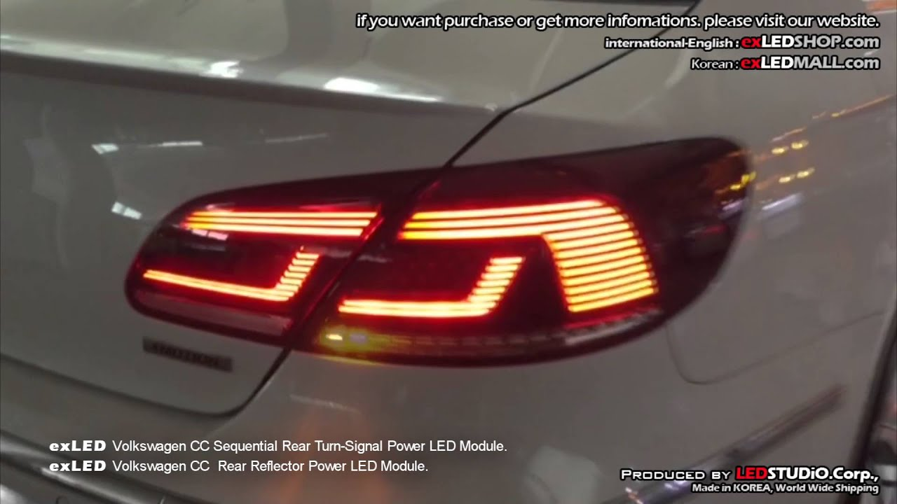 Exled Volkswagen Cc Sequential Rear Turn Signal Power Led