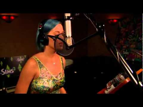 Katy Perry talks and records a song for The Sims 3 Katy Perry's Sweet Treats + unseen video