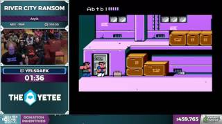 River city Ransom by yelsraek in 7:44 - Awesome Games Done Quick 2017 - Part 75