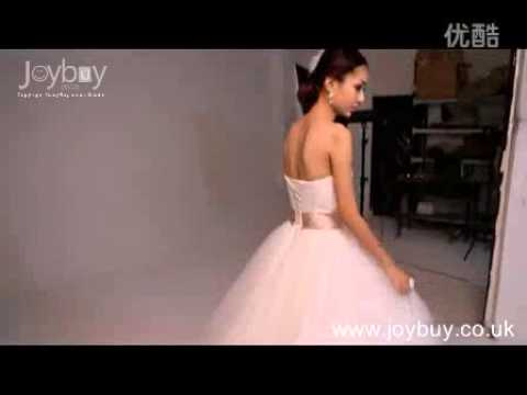 ball-gown-strapless-tulle-princess-wedding-dress-with-color
