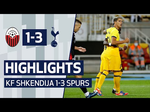 HIGHLIGHTS | KF SHKËNDIJA 1-3 SPURS | Uefa Europa League Third Qualifying Round | Lamela, Son, Kane
