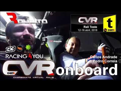 CVR18 -  Rali de Teste: Onboard Carlos Andrade