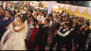 Wedding line dance on Wobble