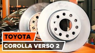Come cambiare le dischi del freno anteriori TOYOTA COROLLA VERSO 2 Tutorial | Autodoc