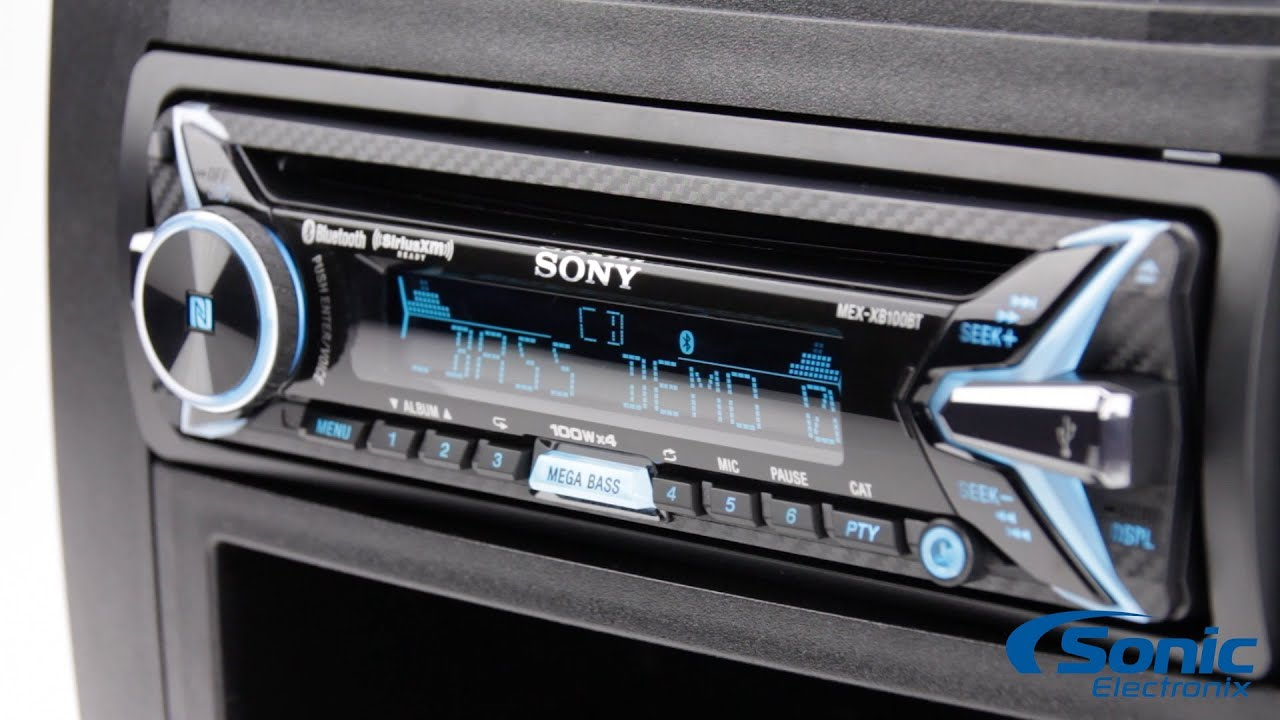 sony mex xb100bt bluetooth amplified car stereo product. Black Bedroom Furniture Sets. Home Design Ideas