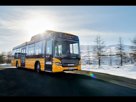 Biofuel-powered buses in Iceland
