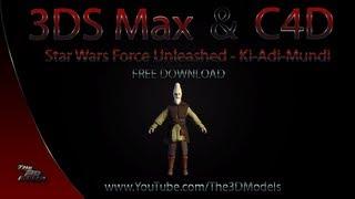 Cinema 4D/ 3DS Max | SWTFU Ki Adi Mundi Model Download