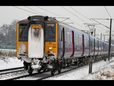Kings Cross to Cambridge. Fast Snow Version