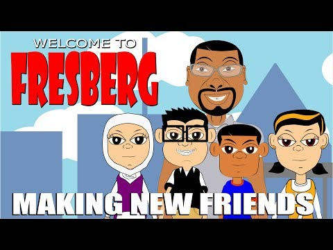 Welcome to FresBerg - Making New Friends Cartoon - Positive Elementary School/Family Videos