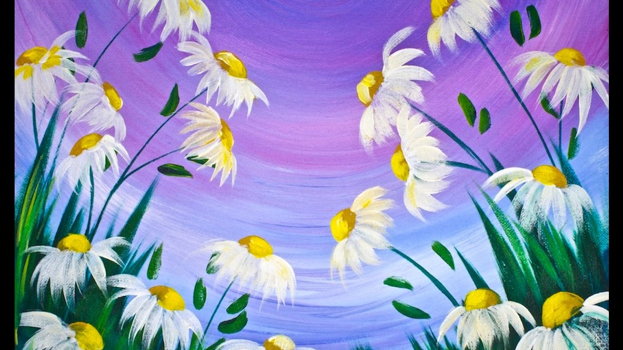 EASY Spring Flowers Acrylic Painting On Canvas For Beginners Lovespringart2017
