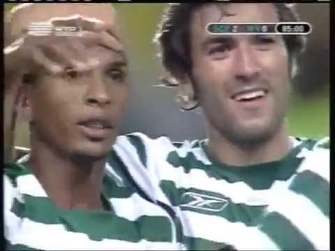Sporting - 2 x Rapid Viena - 0 de 2004/2005 Uefa 1Elim