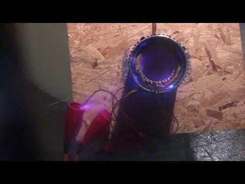 VacuumPDTest 1mmHg on 1 5kW 2 pole motor dip and bake winding