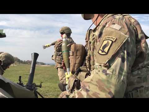 Soldiers Live-Fire M252A1 Mortar